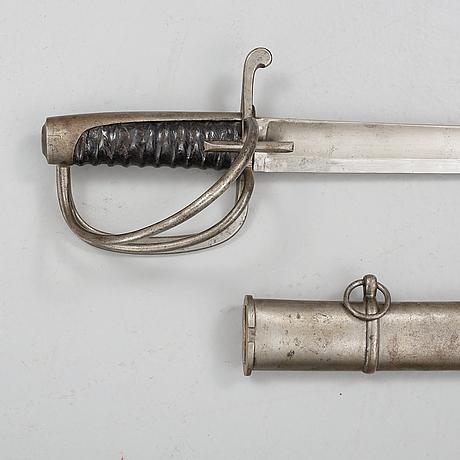 Manskapssabel, m/1825. svensk, för kavalleri.