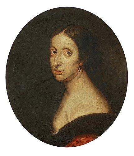 """Abraham wuchters follower of, """"queen kristina"""" (1626-1689)."""