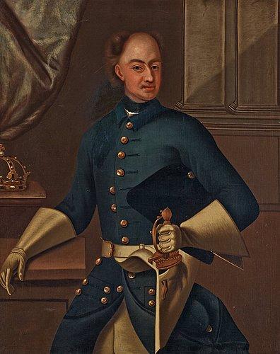 """David von krafft follower of, """"king karl xii of sweden"""" (1682-1718)."""