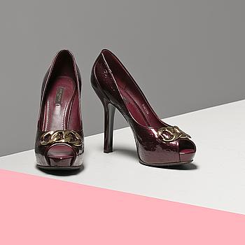 PUMPS, Louis Vuitton, storlek 39,5.