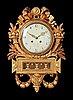 A gustavian wall clock by j. lannér, master 1761.
