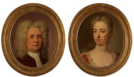 "Johan henrik scheffel circle of, ""johan upmark, later rosenadler (1664-1743) & eva schwede (? - 1717)""."