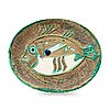 A pablo picasso 'poisson chiné' faience dish, madoura, vallauris, france 1952.