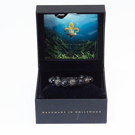 """Diamantarmband, """"black diamond bracelet"""", unisex, nialaya, 2014."""