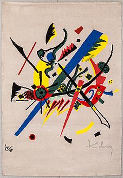 MATTA, tuftad, Wassily Kandinsky, Ege Art Line, Danmark. 1900-talets slut. Ca 140x200 cm.