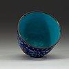 A blue enamel cup, qing dynasty 18th century.