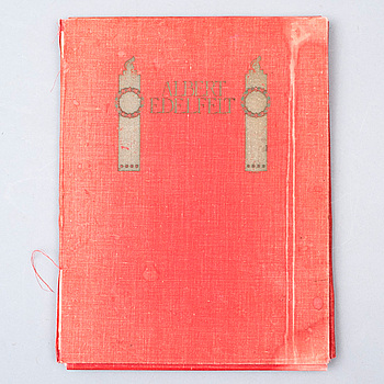 KANSIO, 25+5 kpl, painokuvia, Albert Edelfelt, hänen mukaansa, painettu AB. F. Tilgmann 1906.