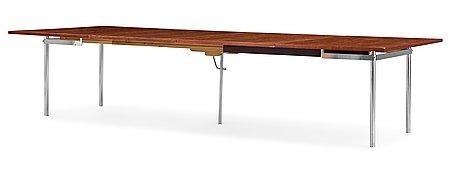 A hans j wegner palisander table by andreas tuck, denmark 1960's.