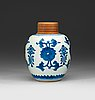 A blue and white jar, qing dynasty kangxi (1662-1722).
