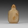 A silhouette chalcedony snuff bottle, qing dynasty, 19th century.
