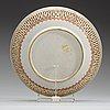 A fine export pierced 'famille-rose' dish, qing dynasty, qianlong (1736-1795).