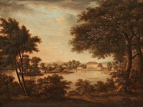 "Carl johan fahlcrantz attributed to, ""brokinds slott"" (= brokind palace)."