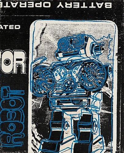 "Andy warhol, ""robot (from toy series)""."
