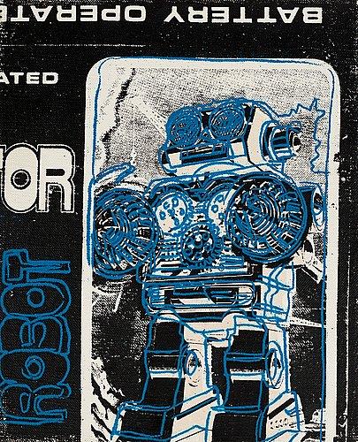 "Andy warhol, ""robot (ur toy series)""."