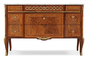 1340. A Royal commode made by Georg Haupt 1782 for prince Karl Gustav, Duke of Småland, the second son of Gustav III.