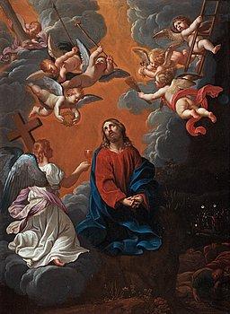 862. GUIDO RENI Hans krets, Kristus på olivberget.