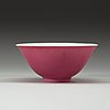 "A ""hot pink"" bowl, qing dynasty, with yongzheng six- character mark and of the period (1723-35)."