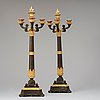 A pair of french louis philippe 19th century four-light candelabra.