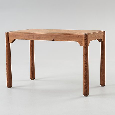 An axel einar hjorth stained pine table, nordiska kompaniet, 1930's.