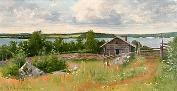 10. Sigfrid August Keinänen, SUMMER LANDSCAPE.