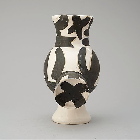 A pablo picasso faience pitcher 'chouette femme', madoura, vallauris, france 1951.