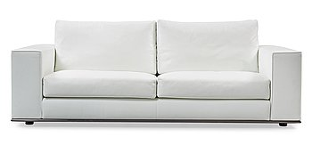 104. A Rodolfo Dordoni white leather 'Hamilton' sofa, Minotti, Italy, post 2004.