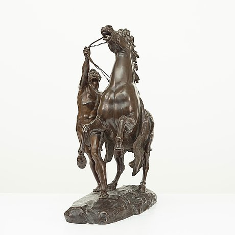 Charles crozatier, the horses of marly (one of two).