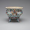 A rare large, finely painted tureen with cover and stand, qing dynasty, qianlong (1736-95).