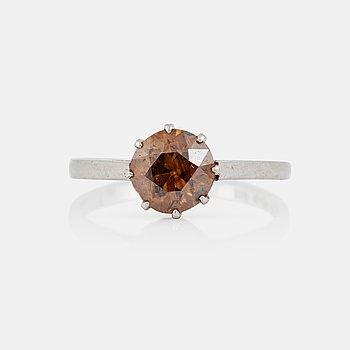 1196. RING med brun gammalslipad diamant ca 1.30 ct. Hugo Strömdahl 1942. f0ce5fcea66ec