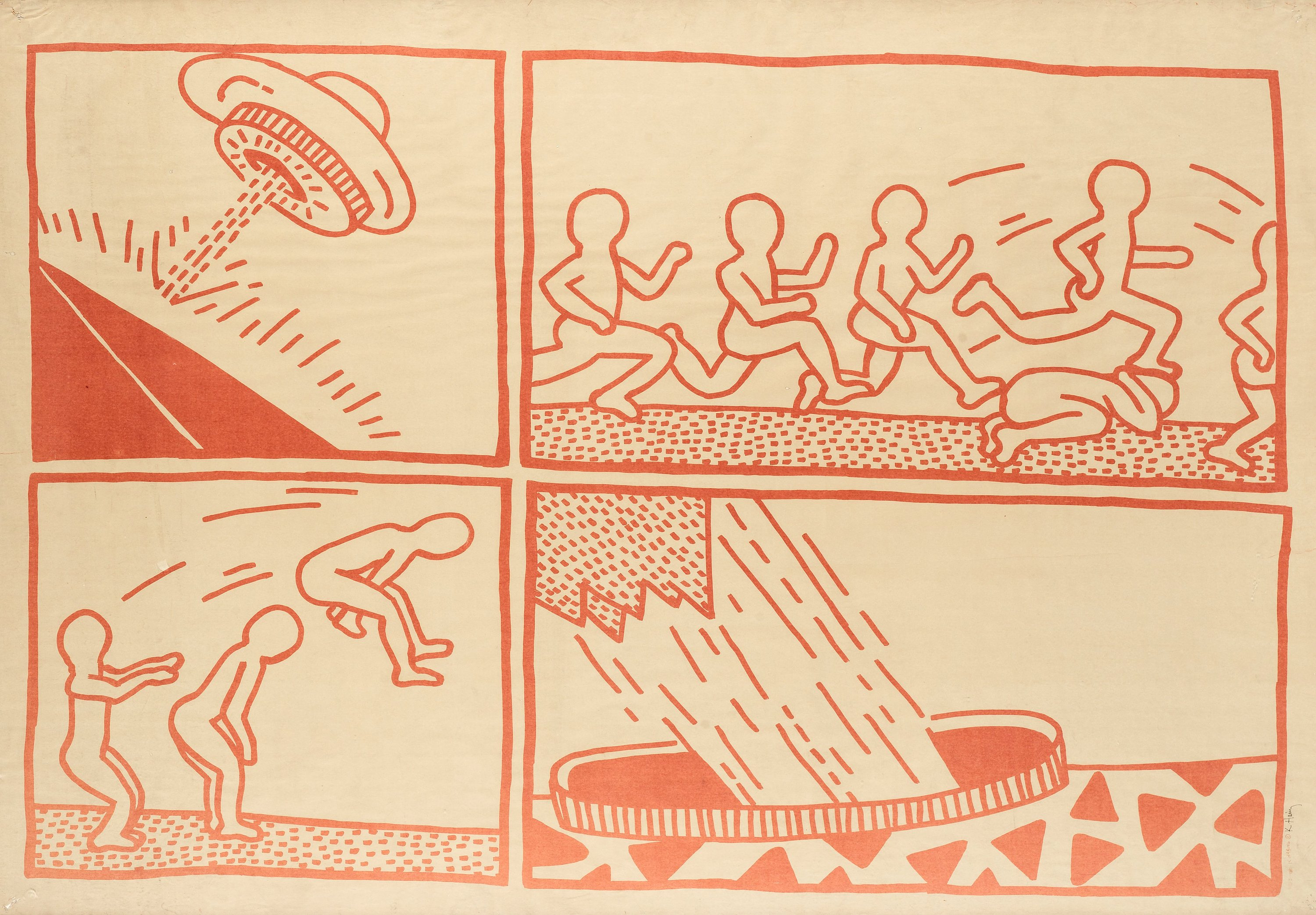 Keith haring blueprint drawing bukowskis malvernweather Images