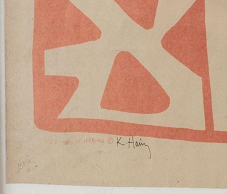 Keith haring blueprint drawing bukowskis photo bukowskis malvernweather Image collections