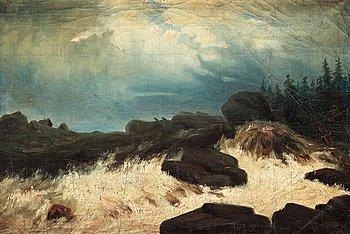 "709. Carl Fredrik Hill, ""Bränningar"" (Breaking waves)."