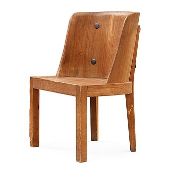 499. An Axel Einar Hjorth 'Lovö' stained pine armchair, Nordiska Kompaniet, Sweden 1930's.
