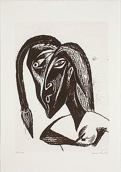 CHANNA BANKIER, litografi, signerad och numrerad 266/300.