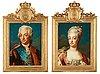 "Jakob björck attributed to, ""king gustaf iii"" (1746-1793) & ""queen sofia magdalena"" (1746-1813)."
