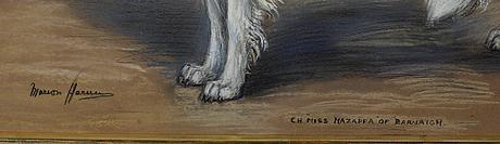 Oidentifierad konstnÄr, pastell, otydligt signerad möjligen marion harris, england, 1800-/1900-tal.