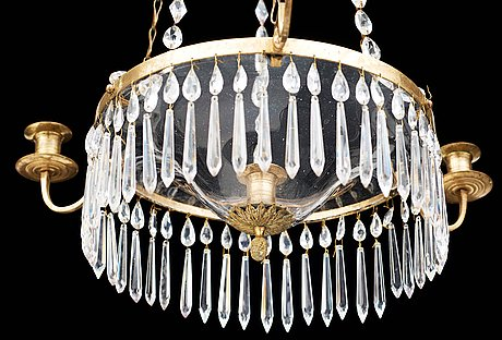 A late gustavian circa 1800 four-light chandelier.