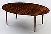 A finn juhl rosewood 'judas' dining table, probably by niels vodder, denmark 1960's.