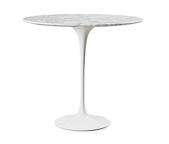 108. An Eero Saarinen 'Tulip' marble top side table, Knoll International.