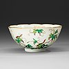 A bowl decorated with squirrels among grapes, late qing dynasty (1644-1912).