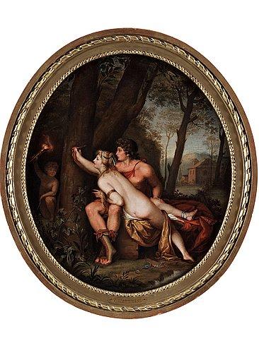 "Teodoro matteini attributed to, ""angelica and medoro""."