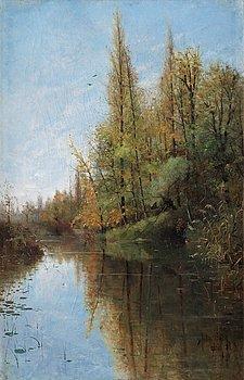 711. Julia Beck, River landscape, Grez-sur-Loing.