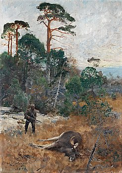 721. Bruno Liljefors, Hunter at dawn.