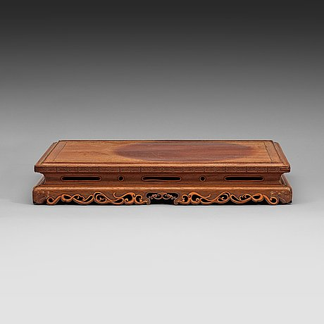 A hardwood stand, qing dynasty, late 19th century.