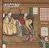 MÅlning, färgpigment på duk.  qingdynastin, sent 1800-tal.
