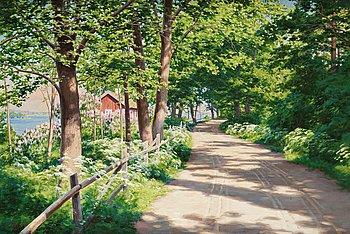 738. JOHAN KROUTHÉN, Solbelyst landskap.