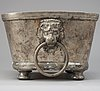 A swedish pewter cooler by c. ringeltaube 1773.