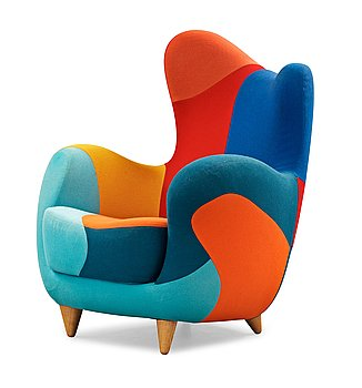 102. A Javier Mariscal 'Alessandra' armchair, Meubles Amorosos, Moroso, Italy post 1995.