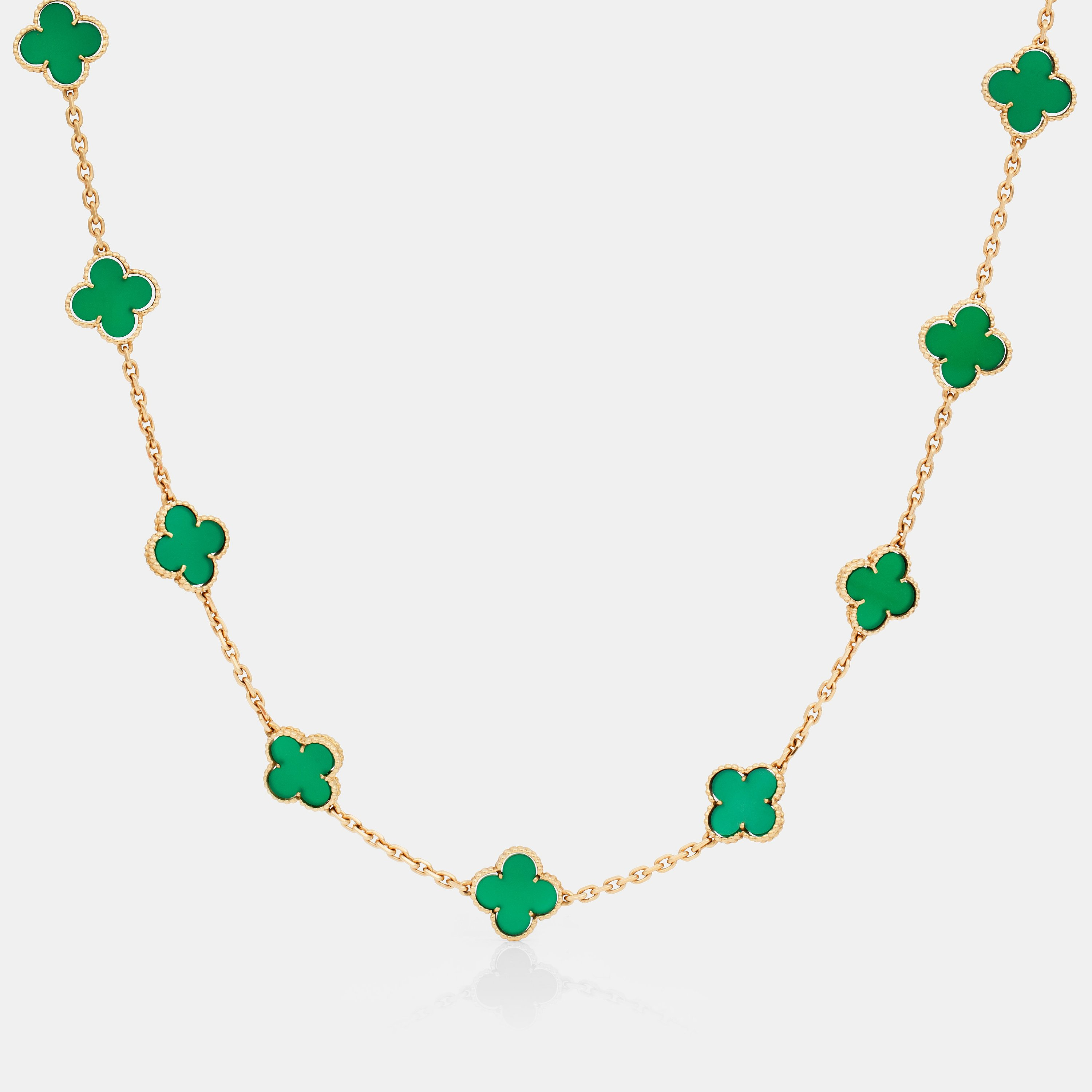 f70bb430866c A green chalcedony and 18K gold