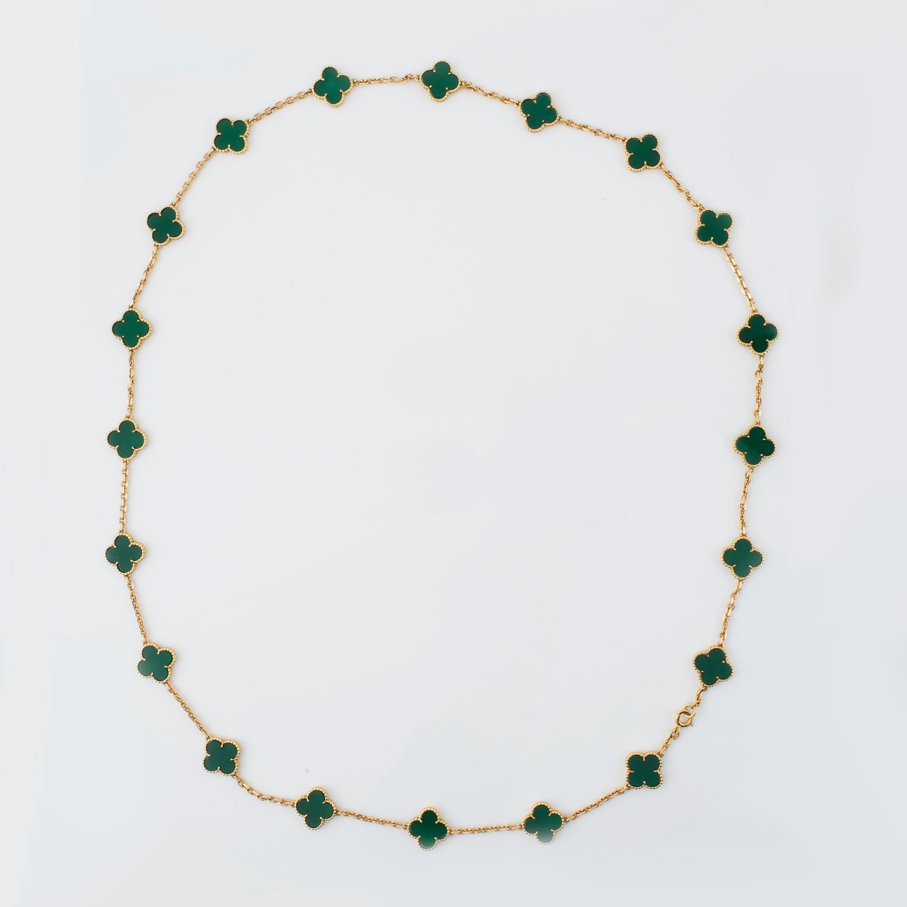 c3149f2e45f1 A green chalcedony and 18K gold